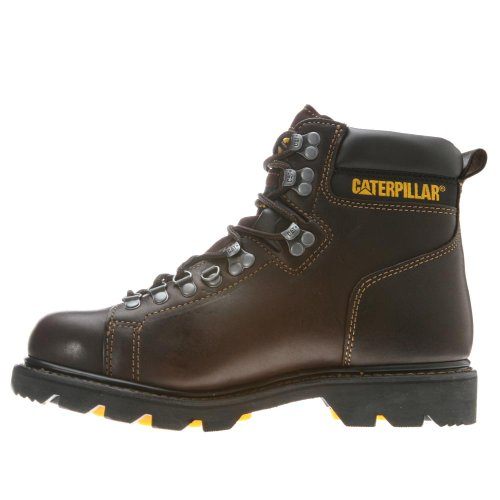Caterpillar Mens Alaska 6 Lace Toe Punta Morbida Stivaletto Espresso