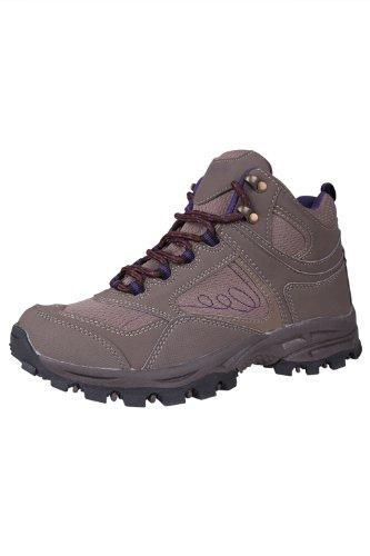 Mountain Warehouse Mcleod Damen Wanderstiefel Schuhe Stiefel Sport Trekkingstiefel Fitness outdoor Braun 38 (EU)