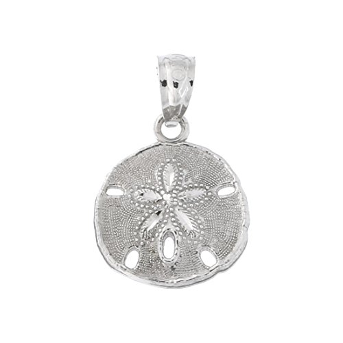 Beauniq 14k White Gold Small Sand Dollar - Gold White Sand