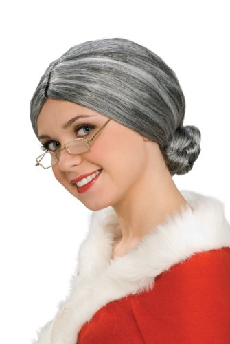 [Rubies Costume Characters Old Lady / Mrs. Santa Wig, One Size] (Old Wigs)