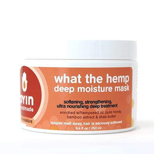Oyin Handmade What The Hemp Deep Moisture Mask with Hempseed Oil, Pure Honey, Bamboo Extract & Shea Butter  8oz from Oyin Handmade