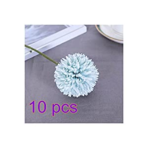 Pannow Artificial Fake Flowers, 10pcs Chrysanthemum Ball Real Touch Flowers Floral Wedding Bouquet Home Office Hotel Restaurant Party Decor 87