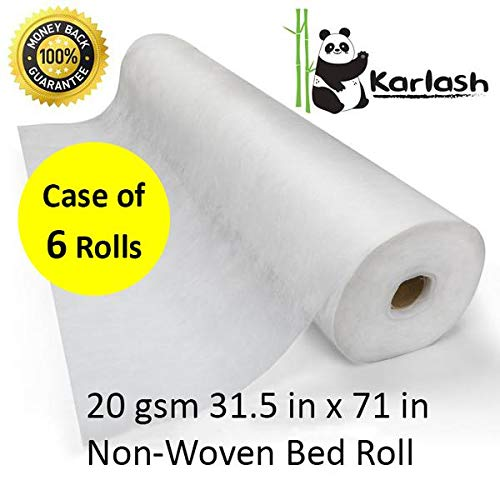Karlash Disposable Non Woven Bed Sheet Roll Massage Table Paper roll 20gms Thick (Pack of 6) by Karlash