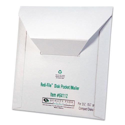 t Mailer, 6 x 5-7/8, Recycled, White, 10/Pack, Sold as 10 Each ()