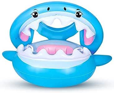Flotador para Bebé con Sombrilla Ajustable Barco Anillo de NatacióN Inflable de la Piscina del Bebé Flotador de NatacióN para Bebé 6-36 Meses: Amazon.es: Juguetes y juegos