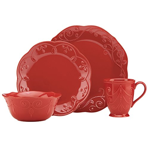 Lenox French Perle Cherry 4 Piece Place Setting (Place For 12 Settings Dinnerware Sets)