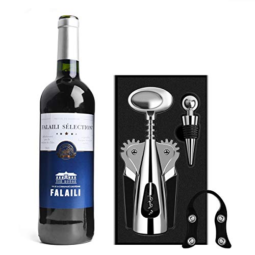 AUNOOL Wing Corkscrew Wine Opener - Premium All-in-one Wine Bottle Opener and Wing Corkscrew, Comfortable to Grasp and Effortless to Remove Any Size Cork Quickly and Efficiently with Fancy Package by AUNOOL (Image #5)