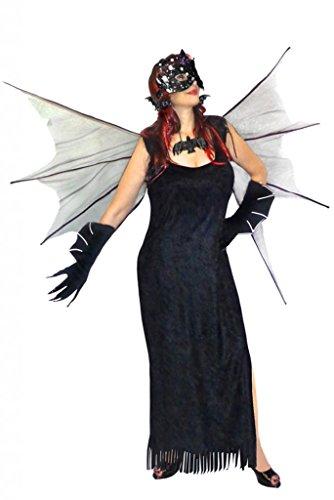 Sanctuarie Designs Womens /DELUXE KIT/Black Bat/Dress Plus Size Supersize Halloween Costume/9xT/Black/]()