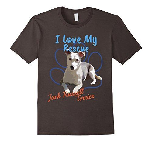 e Jack Russell Terrier Adopted Dog T-Shirt XL Asphalt ()