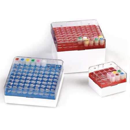 Cryogenic Vial Storage Box, Yellow, PK4