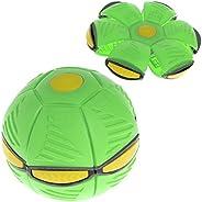 Horoshop Bola de disco Flying UFO plana com luz de LED, brinquedo infantil ao ar livre, jardim e praia