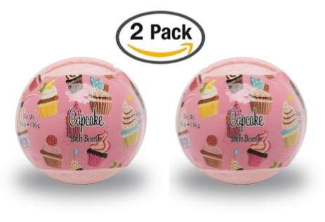 (Primal Elements Bath Bombs, 2 Pack, 6 Design/Scent Choices (Cupcake 2)