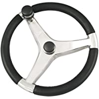 SCHMITT & ONGARO MARINE Schmitt Evo Pro 316 Cast Stainless Steel Steering Wheel w/Control Knob - 13.5 Diameter / 724132