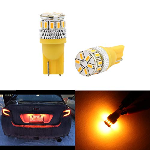 Amber Yellow LED Dome Light Glove Box Trunk Light 194 168 2825 175 192 W5W Bulb T10 Wedge High Power 3014 18 SMD Bulb for License Plate Interior Map Door - Toyota 4runner 02 Corner