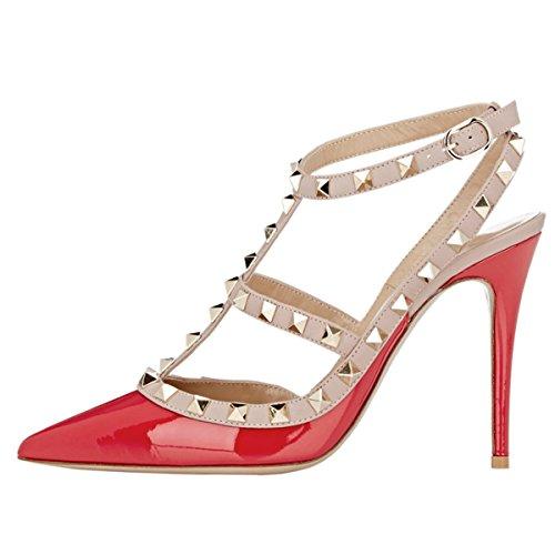 EKS - Zapatos de Tacón Mujer Rot-Lackleder