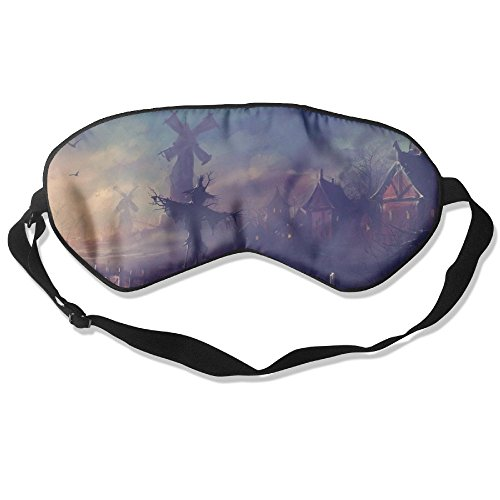 Ministoeb Comfortable Sleep Eyes Masks Scary Happy Halloween Pattern Sleeping Mask For Travelling, Night Noon Nap, Mediation Or Yoga