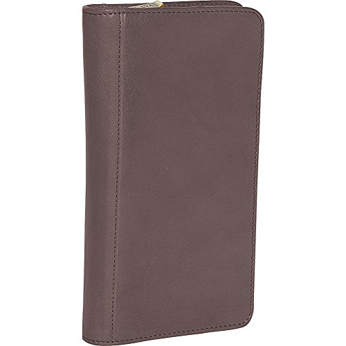 Clava Glazed Leather Passport Wallet (Tuscan Cafe)