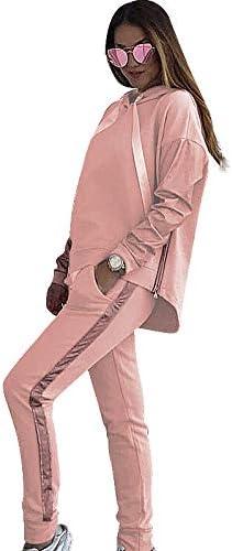 Baugger Conjunto de Pantalones de chándal con Capucha para Mujer ...