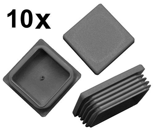 10x Bouchon à lamelles carré rohrstopfen 60x 60mm (extérieur) Bouchon Gris FKAnhängerteile