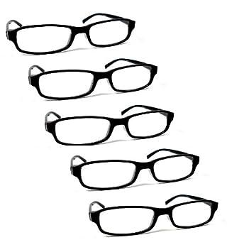 Lot de 5 lunettes loupes de lecture correction +1.0 à +4.0 pour homme ( 1e8d2a94d8ee