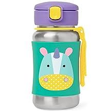 Skip Hop Zoo Stainless Steel Straw Bottle - Unicorn