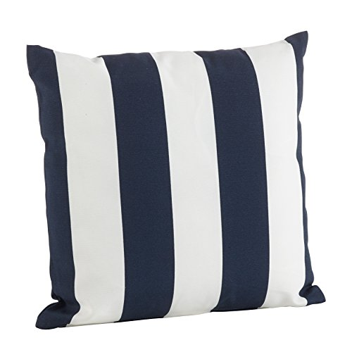 SARO LIFESTYLE Indoor/Outdoor Classic Awning Stripe Poly Filled Throw Pillow (1902.BL21S) 21