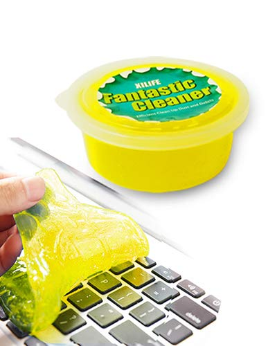XILIFE Keyboard Cleaner Universal Keyboard Cleaning Gel Dust Cleaner for Keyboards, Car Vent, Camera, Telephone, Calculator, Speaker and Other Plastic Rugged Surface 2.82 Ounce(80G)