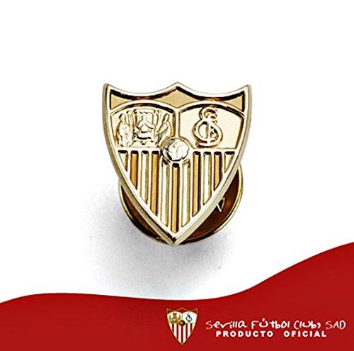 Broche Sevilla FC bouclier 18k de la loi de 16mm d'or. [AA0653] - Modèle: 40-036-L