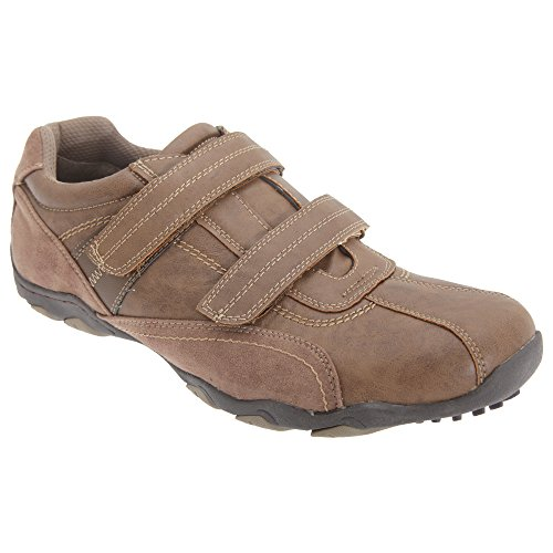 Route 21 Mens Touch Fastening Leisure Shoes Brown VR9ER