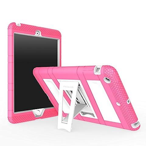 MoKo iPad Mini 3 / 2 / 1 Case, Silicone + White Hard Polycarbonate Protector with Foldable Stand Cover Case for Mini 3, Mini 2 and Mini (2012 1st gen), MAGENTA (Will not fit iPad Mini (Hard Cases Ipad Mini)