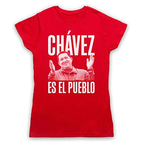Hugo Chavez Es El Pueblo Camiseta para Mujer Rojo