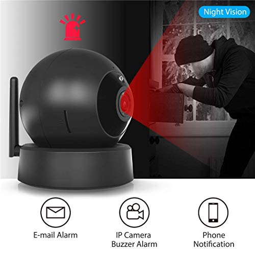 Indoor Security Camera, VICTONY Wireless 1080P Home Camera, WiFi Home Surveillance IP Camera for Baby/Elder/Pet/Nanny Monitor, Pan/Tilt, Two-Way Audio & Night Vision(E24) by VICTONY (Image #5)