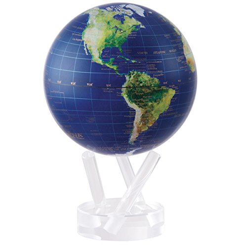 4.5'' Satellite View with Gold Lettering MOVA Globe by Mova