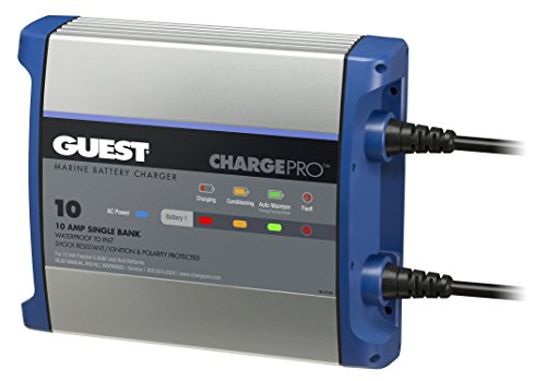 Guest 2710A ChargePro On-Board Battery Charger 10A / 12V, 1 Bank, 120V - Battery Single Supply