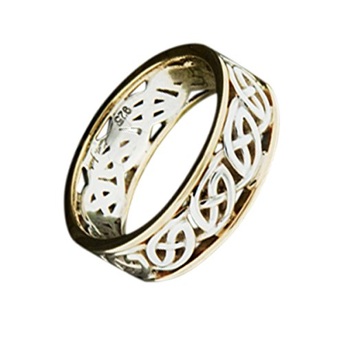 Eternal Celtic Knot Irish Sterling Silver Mens Ring By Keith Jack-Size 11