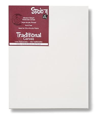 """Pack of 8 9/"""" x 12/"""" Canvas for Oil or Acrylic Paints Acrylic Primed Canvas Darice Studio 71 Medium Weight Stretched Canvas Value Pack"""