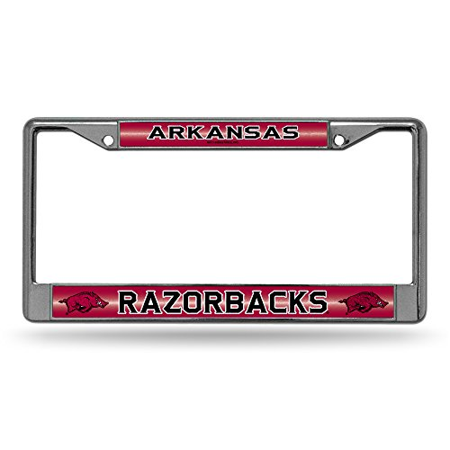 acks Bling Chrome License Plate Frame with Glitter Accent ()