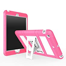 iPad Mini 1 / 2 / 3 Case, MoKo Silicone + White Hard Polycarbonate Protector with Foldable Stand Cover Case for Mini 3, Mini 2 and Mini (2012 1st gen), MAGENTA (Will not fit iPad Mini 4)
