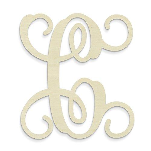 UNFINISHEDWOODCO Single Vine Unfinished Monogram C Decorative Letter, ()