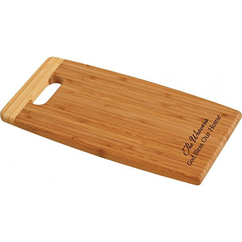 P. Graham Dunn Personalized Laser Engraved Bamboo Cutting Board (7