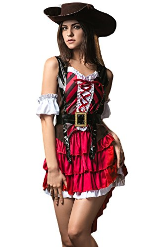 Women's Lady Cowboy Cowgirl Cowpoke Cutie Dress Up & Role Play Halloween Costume (One Size) (Lone Cowboy Adult Costume)