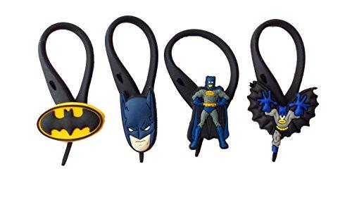 [AVIRGO 4 pcs Soft Zipper Pull Charms for Backpack Bag Pendant Jacket Set # 16-3 by Hermes] (Firefly Batman Costume)