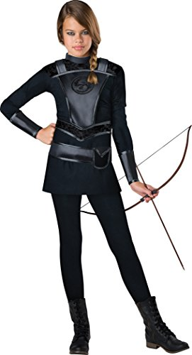 Fun World InCharacter Costumes Tween's Warrior Huntress, Black, Large(12-14)