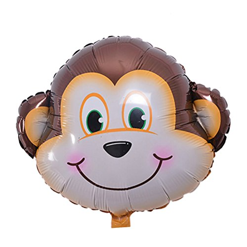 1 Pcs Monkey Cute Big Size Animal Head Balloons Helium Foil Ballons birthday theme party By Team-Management -