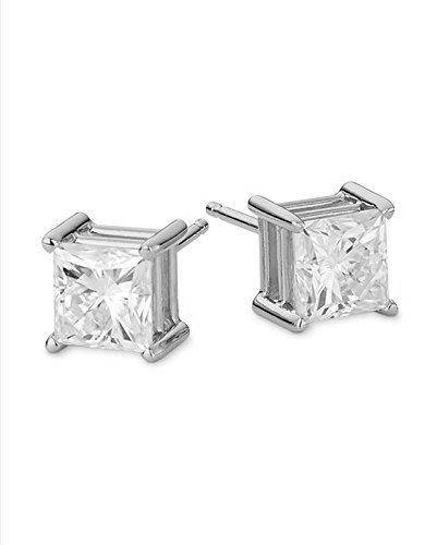 Forever Classic 7.0mm Square Moissanite Stud Earrings, 4.20cttw DEW By Charles & Colvard by Charles & Colvard (Image #1)
