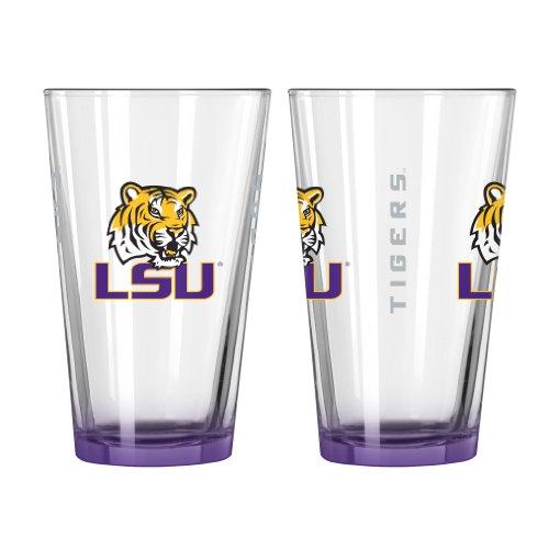 LSU Tigers Elite Pint Glass 16 Oz. (2 Pack)