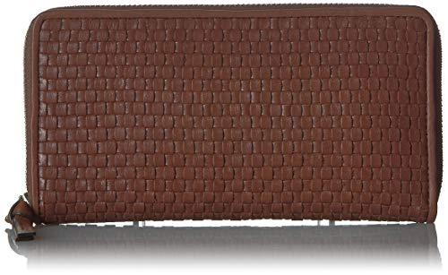 Cole Haan Women's Bethany Woven Leather Zip Around Wallet, -