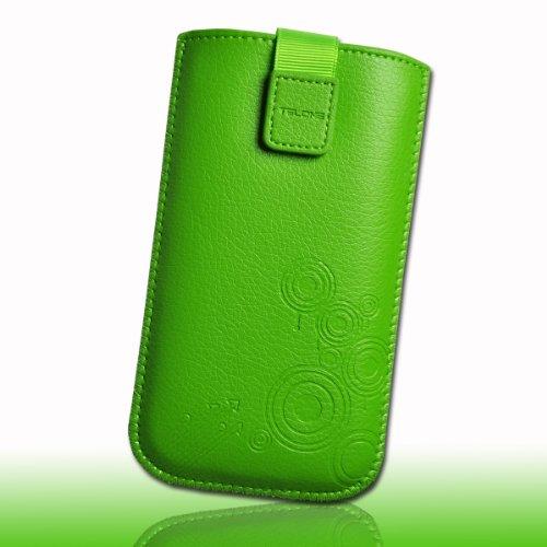Handy Tasche Einschubtasche Etui Hülle Schutz Leder grün DK13 Gr.3 für Apple iphone 3G / 3GS / 4 / 4S