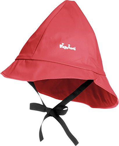 Playshoes Kids Waterproof Rain Hat with Cotton Lining (Large 51cm, Red)