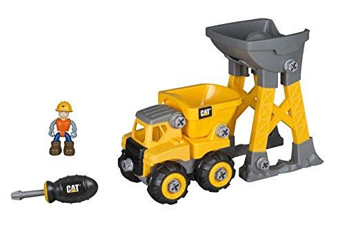 Toy State Caterpillar CAT Junior Operator Work Site - Machine Pairs Dump Truck/Dump Loader Construction Vehicle